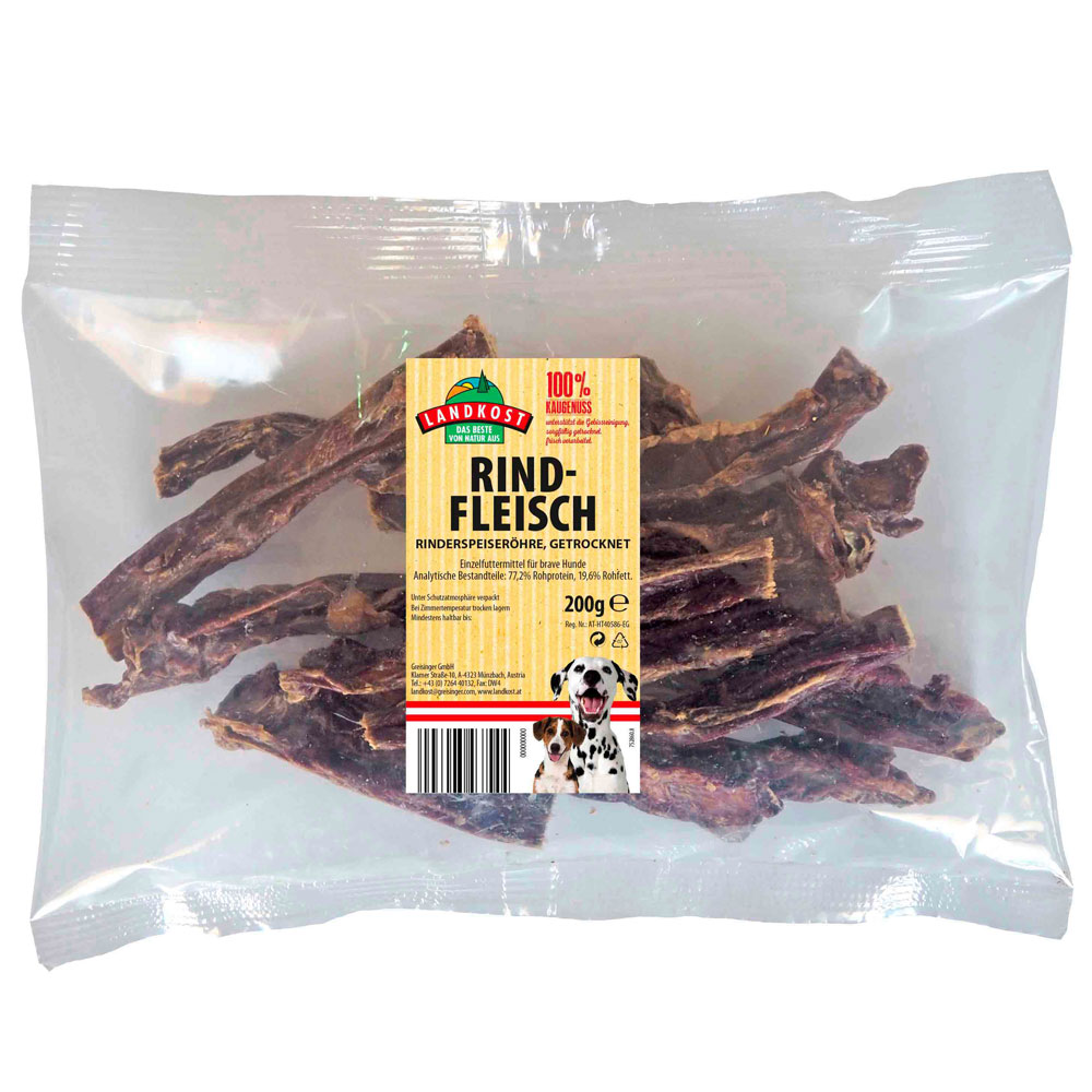 Dried Beef (bovine esophagus) - Small Pack 200g